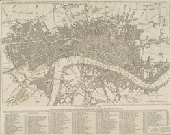 The London directory, or a new & improved plan of London, Westminster & Southwark with the adjacent country, the new buildings, the new road and the late alterations by opening of new streets, & widening of others 1795